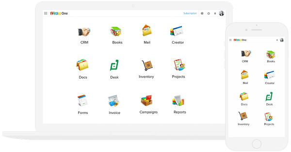 Zoho's New Operating System Zoho One Bundles All Its 35+ Apps, Costs Just $1 A Day Per User